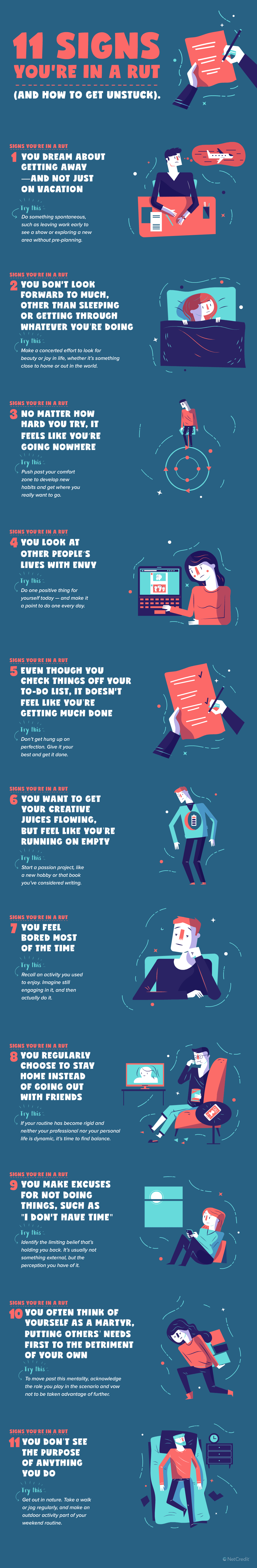 Get yourself out of a careers rut infographic