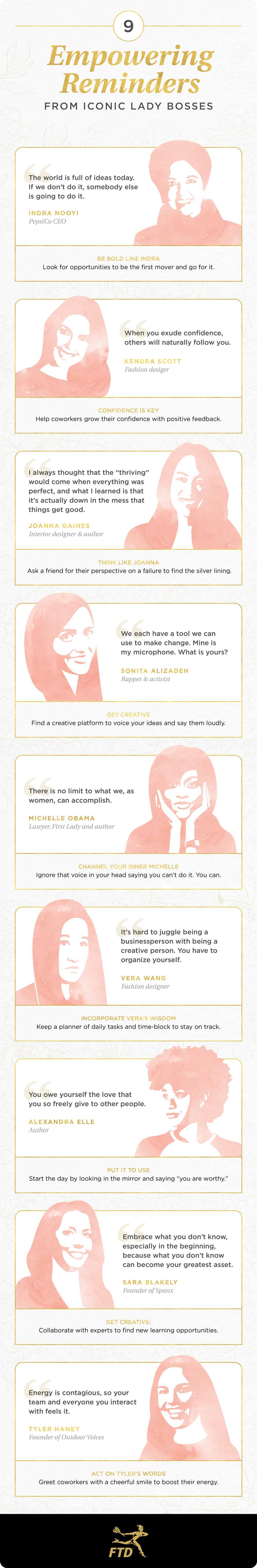 Incredible women in the workplace infographic
