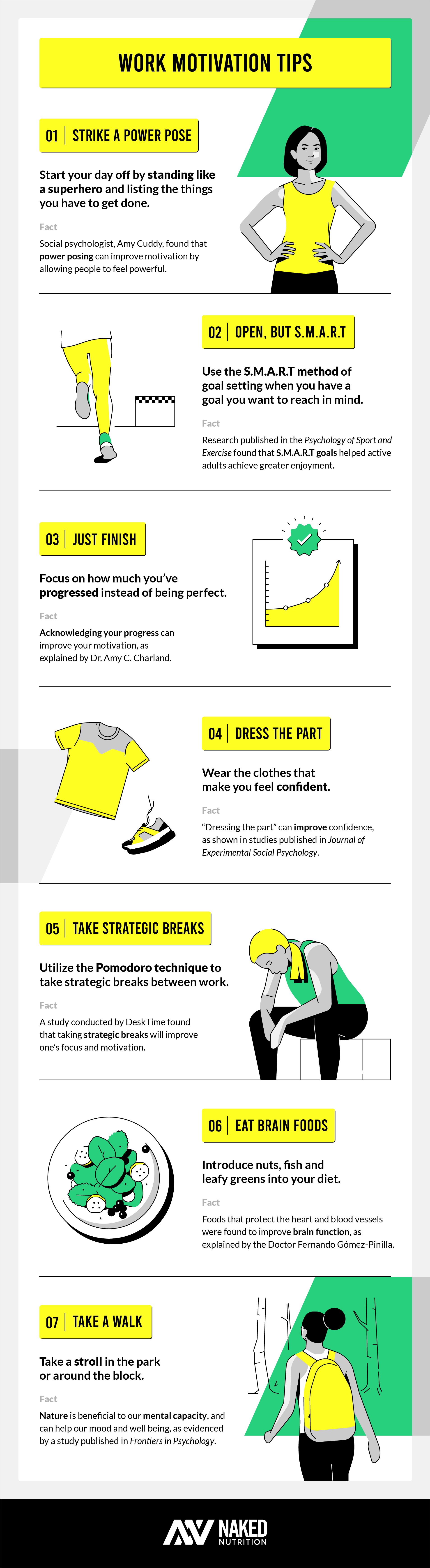 Stay motivated at work infographic